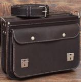 мужской кожаный портфель с усиленными боками