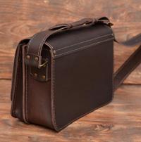 Оригинальная коричневая кожаная сумка