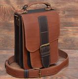 Небольшая двухцветная кожаная сумка