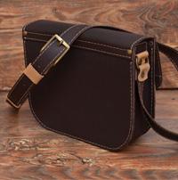 Бежево-шоколадная женская сумочка