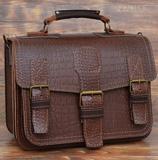 Большой темноконьячный портфель