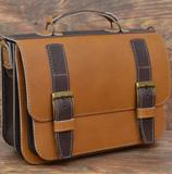 Светлый кожаный портфель