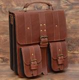 Оригинальный портфель коньячного цвета