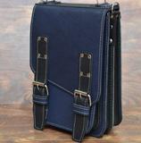 Сине-черный вертикальный портфель