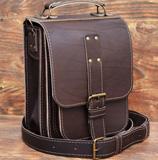 Коричевая мужская сумка