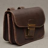 Коричневая сумка для ношения на поясе