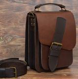 Оригинальная коньячно-коричневая сумка