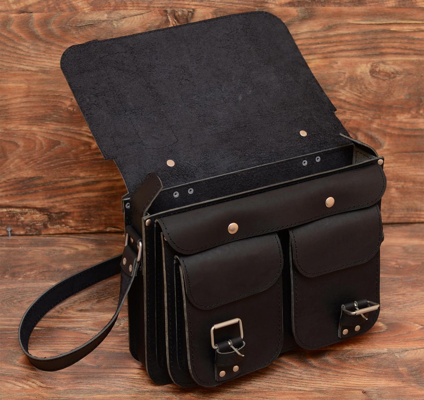 Брутальная мужская сумка из толстой кожи « Bag77.ru — кожаные сумки ... 0ff83704d04