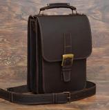 Темнокоричневый портфель вертикальной компоновки