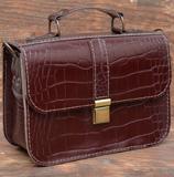 Бордовая женская сумочка