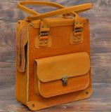 Апельсиновая женская сумка