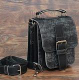 Небольшая сумка из тертой кожи