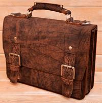 Классический портфель из шикарной состаренной кожи