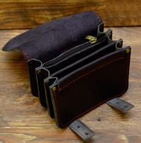 Оригинальная черная поясная сумка