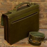 Большой оливковый портфель