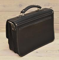 Черно-коричневый мужской портфель