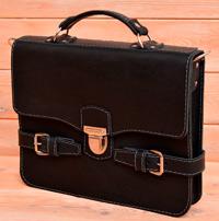 Оригинальный мужской черный портфель