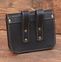 Черно-коричневая поясная сумка