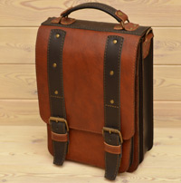 Двухцветный вертикальный портфель