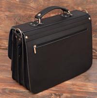 Классический кожаный портфель на 3 отделения