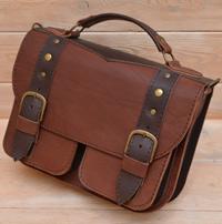 Двухцветная женская кожаная сумочка
