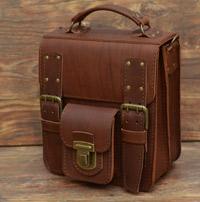 Оригинальная мужская кожаная сумка