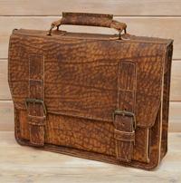 Лаконичный портфель из состаренной кожи