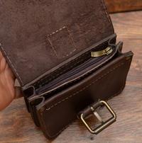 Коричневая поясная сумочка на 2 отделения