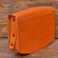 Апельсиновая женская сумочка