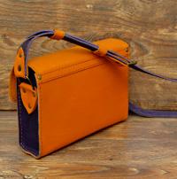 Оранжево-синяя женская сумочка