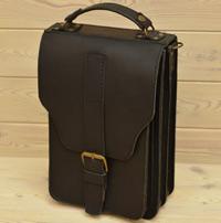 Оригинальный вертикальный черный портфель
