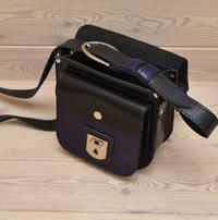 Черно-фиолетовая женская сумочка