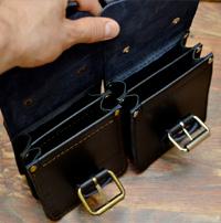 Оригинальные поясные сумки из толстой ременной кожи