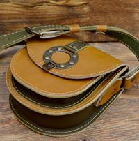 Песочно-коричневая женская барсетка