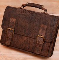 Классический портфель из классной состаренной кожи