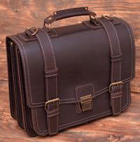 Оригинальный мужской портфель ручной работы