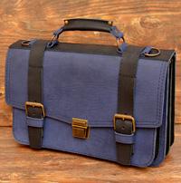 Сине-черный мужской портфель