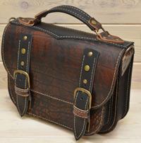Женская сумка из состаренной кожи