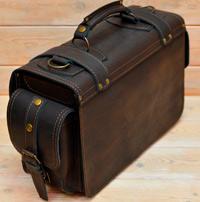 Большой оригинальный кожаный портфель
