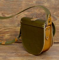 Оливково-песочная женская сумочка