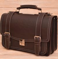 Оригинальный портфель шоколадного цвета