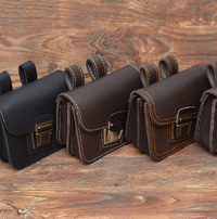 Кожаный сумки - болтанки