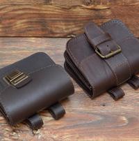 Коричневые поясные сумки