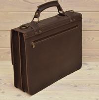 Большой оригинальный коричневый портфель