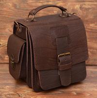 Брутальная вместительная мужская сумка