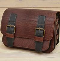 Оригинальная двухцветная кожаная сумка