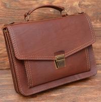 Элегантный компактный портфель на 2 отделения