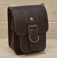 Небольшая кожаная наплечная сумка