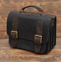 Черный мужской кожаный портфель