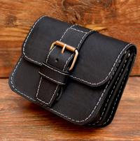 Черная мужская сумка-болтанка